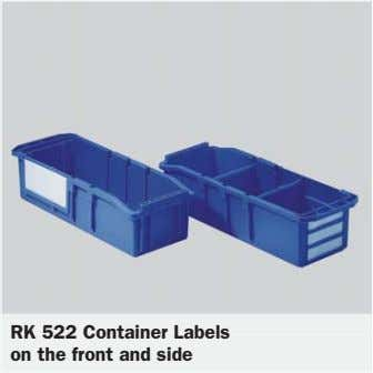 RK 522 Container Labels on the front and side