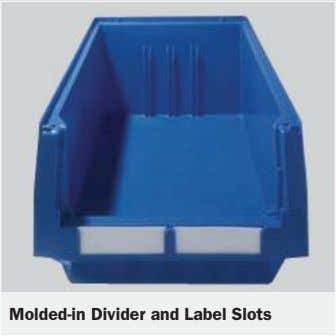 Molded-in Divider and Label Slots