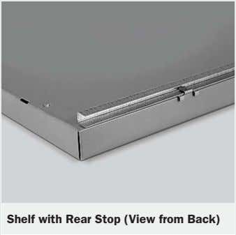 Shelf with Rear Stop (View from Back)