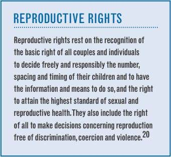 rePrODuCtiVe rigHts reproductive rights rest on the recognition of the basic right of all couples