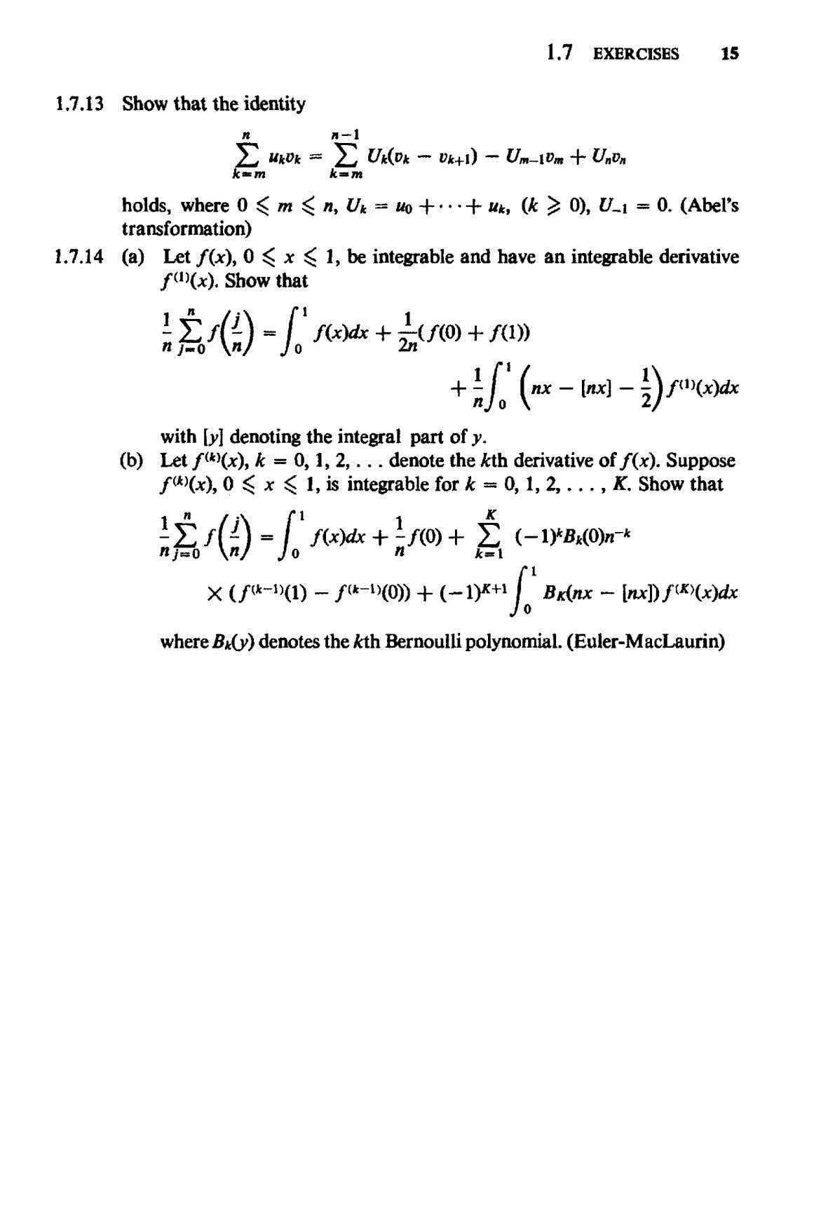 1.7 EXERCISES 15 1.7.13 Show that the identity holds, where 0 ^ m transformation) ^