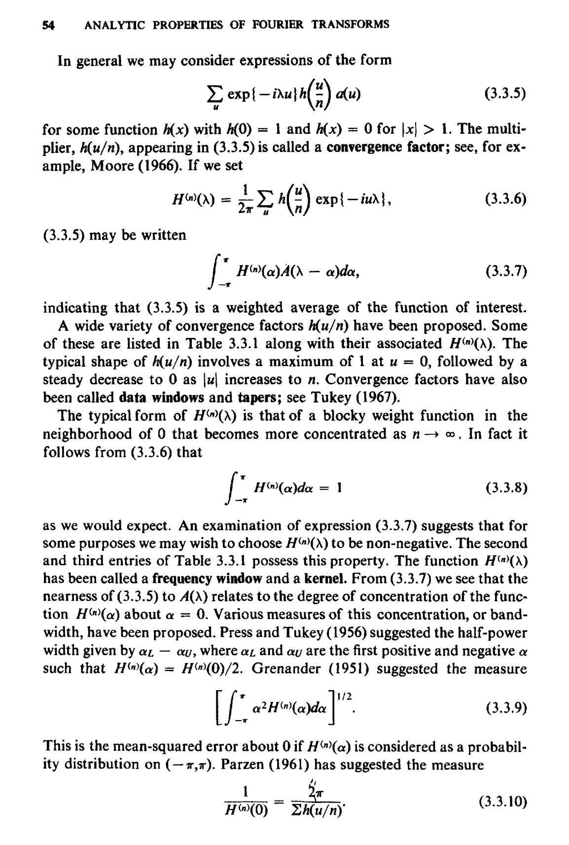 54 ANALYTIC PROPERTIES OF FOURIER TRANSFORMS In general we may consider expressions of the form