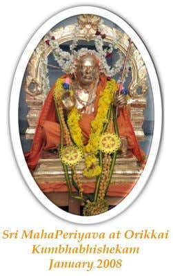 Intervention . This divine initiative is no exception here They desired Utsavar for Sri MahaPeriyava Manimandapam,