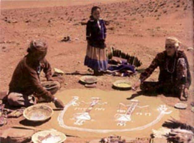 including sand painti ngs, chants, prayers and dances. Navajo Healing Ceremony To achieve a similar healing