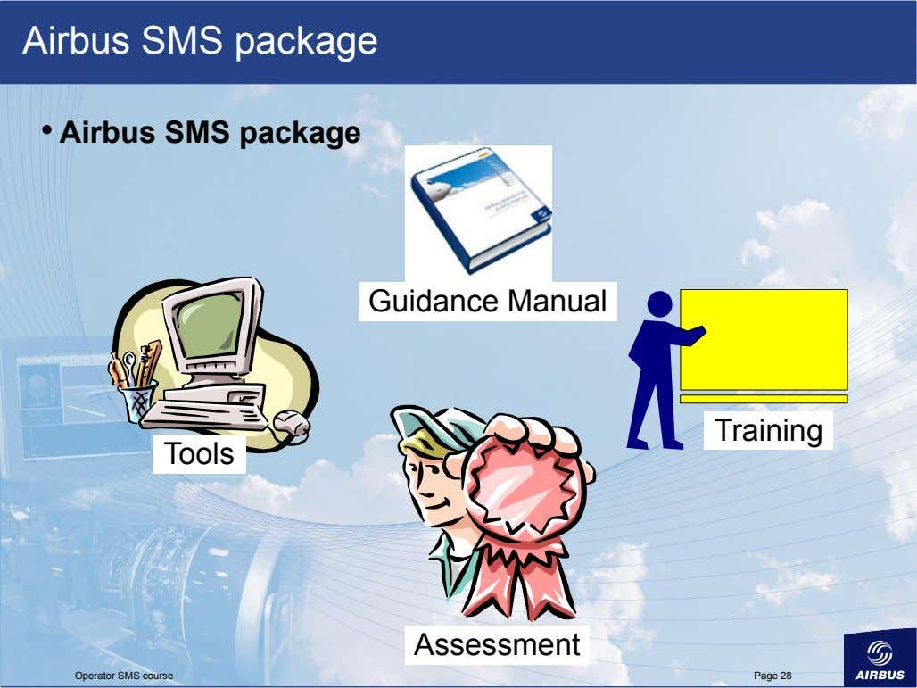 Airbus SMS package •   Airbus SMS package Guidance Manual Training Tools Assessment Operator SMS
