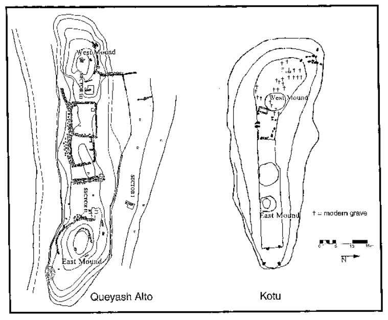 Joan M. Gero Fig. 2 Maps showing structural similarities: ( left ) Queyash Alto and (