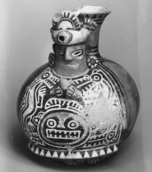 Joan M. Gero Fig. 11 Recuay vessel depicting a male holding a ceremonial cup. Photograph courtesy