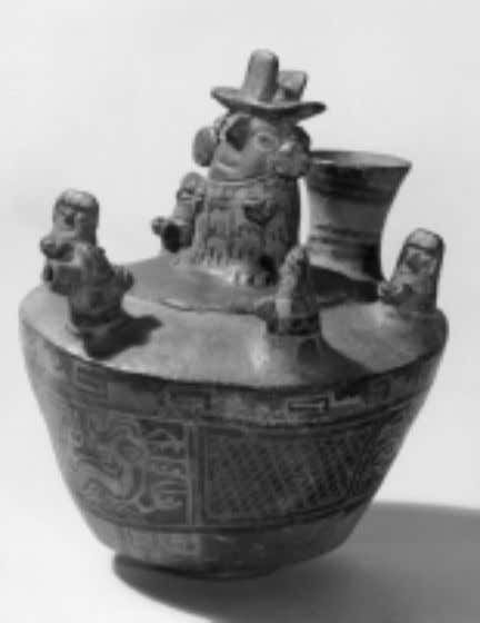 Joan M. Gero Fig. 22 Recuay vessel depicting a cer- emonial scene, with principal male sur-
