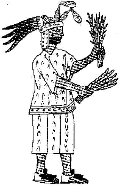 Elizabeth M. Brumfiel Fig. 8 The Aztec goddess Tlazolteotl, with a band of unspun cotton around