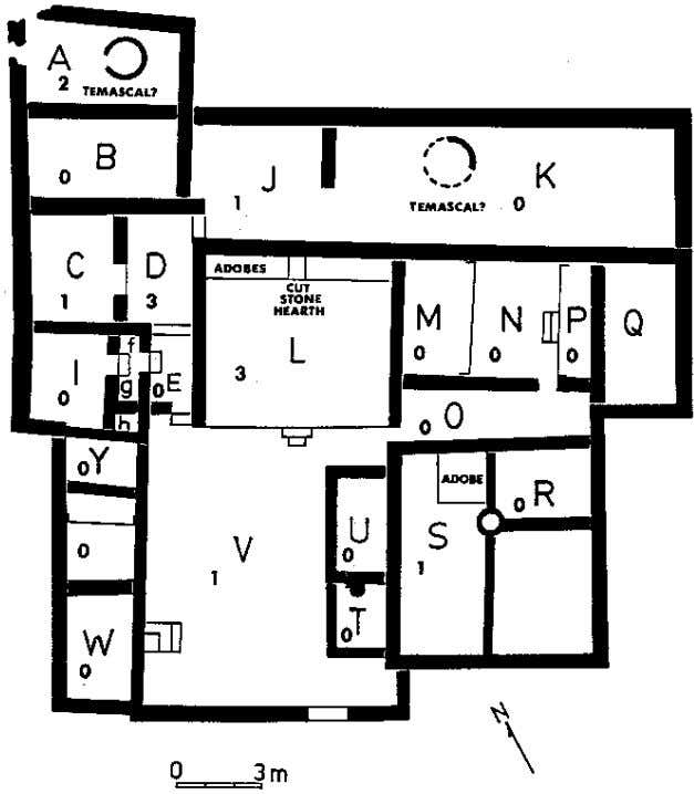 Elizabeth M. Brumfiel Fig. 10 Plan of Structure 6, a provincial palace at Cihuatecpan, Basin of