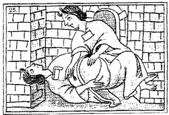 Asking about Aztec Gender Fig. 11 Midwife massaging a pregnant woman in a sweatbath (after Sahagún