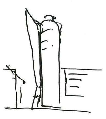 Figure 3 – Sketch of the UNIQA-Tower Figure 4 – Exterior view of the UNIQA-Tower