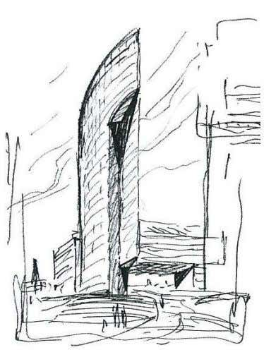 Figure 7 – Sketch of the Tech Gate Tower Figure 8 – Exterior view of