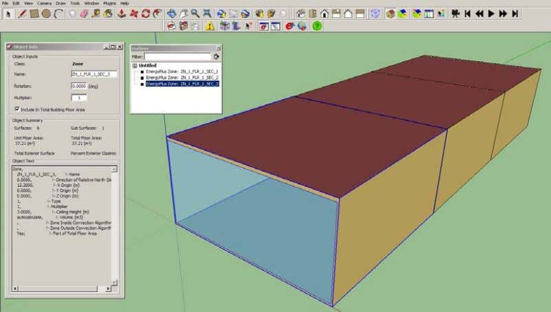 "finish details – all within the same SketchUp model."" Figure 26 – OpenStudio within SketchUp Figure"