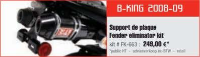 B-KING 2008-09 Support de plaque Fender eliminator kit kit # FK-663 : 249,00 €* *public