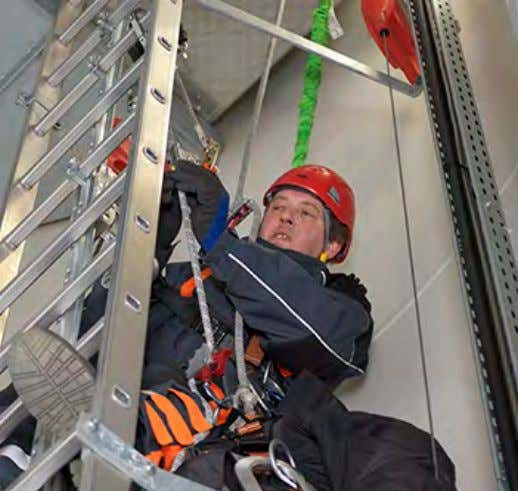 inspection and test    Correct usage of anchor points    Correct behavior on ladder