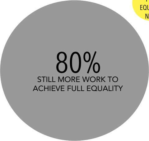 80% STILL MORE WORK TO ACHIEVE FULL EQUALITY