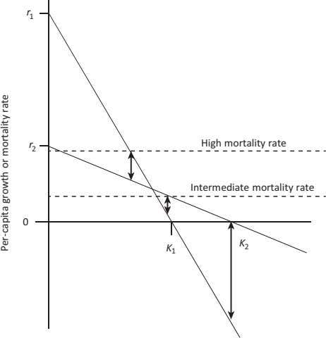 r 1 r High mortality rate 2 Intermediate mortality rate 0 K K 2 1