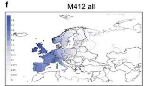 21 Figure 19. M412/L51. Figure 20. M412 by Myres et al. 2010 On level nine ,