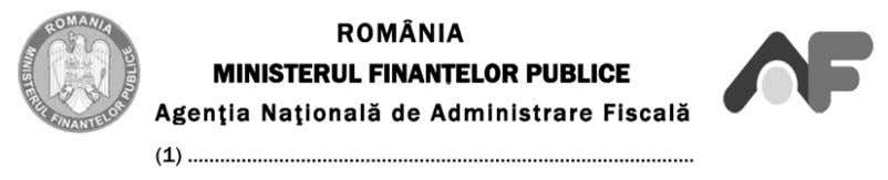 Se arhivează: la organul fiscal. ANEXA Nr. 14 ANNEX No 14 Adresa: Address E-mail: E-mail address