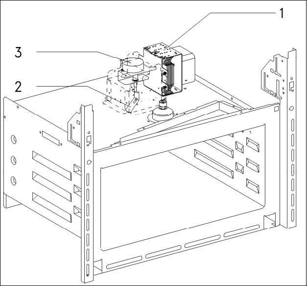 (Figure 012-3, Item 3) distributes the microwave energy. Figure 012-3: Microwave Components 4 Service 4.1 Front