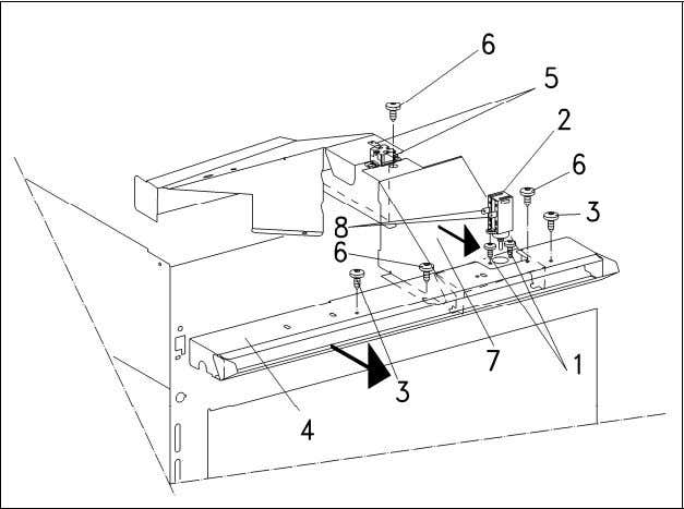 H 408x BM Technical Information Figure 012-4: Front Air Duct Removal Note: When installing the front
