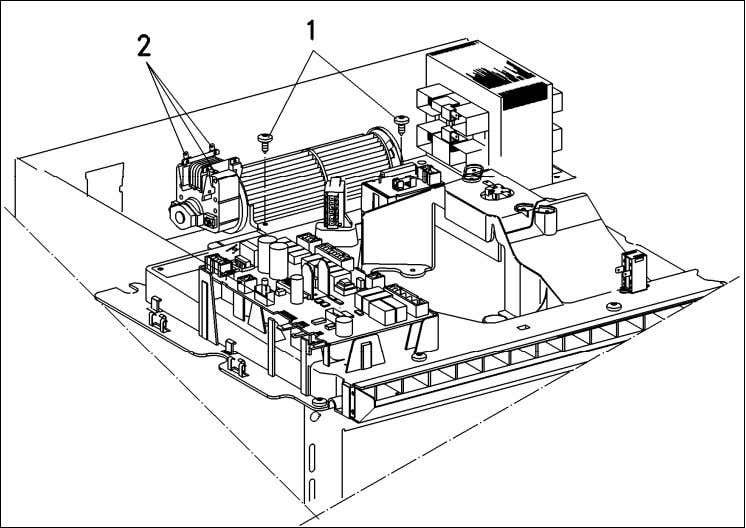 (Figure 012-9, Item 2). 5. Remove the cooling fan. Figure 012-9: Cooling Fan Removal Danger! After