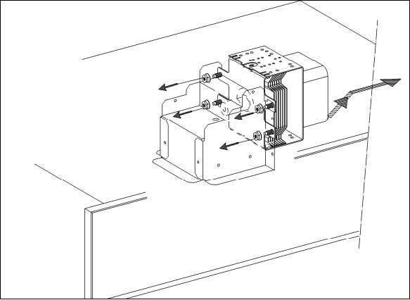 H 408x BM Technical Information Figure 012-10: Magnetron Removal Note: When re-installing the magnetron, tighten the