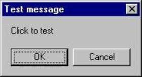 """Testing fail"" will be displayed. Figure 10.2 To make the message box looks more sophisticated, you"