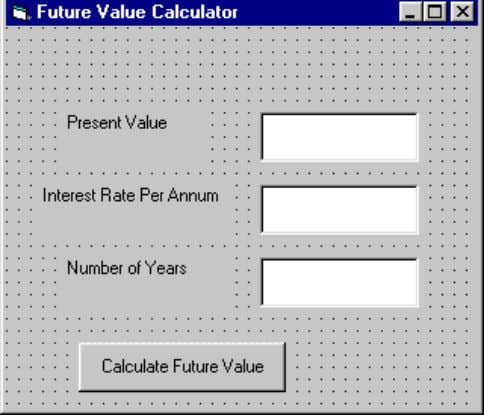 .The calculation is based on the compound interest rate. The code Public Function FV(PV As Variant,