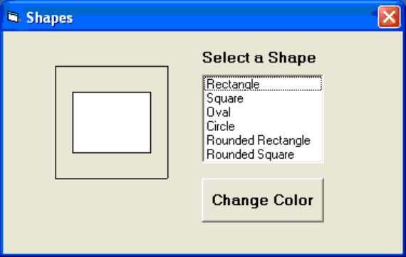 on a particular color on the common dialog box as shown in the Figure below: The