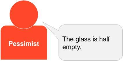 The glass is half Pessimist empty.