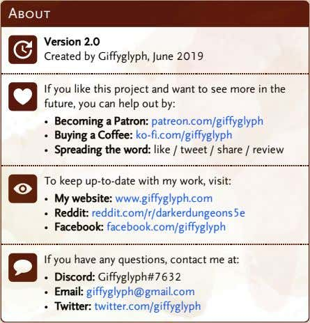 About Version 2.0 Created by Giffyglyph, June 2019 If you like this project and want
