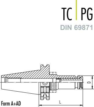 TC PG DIN 69871 Form A+AD