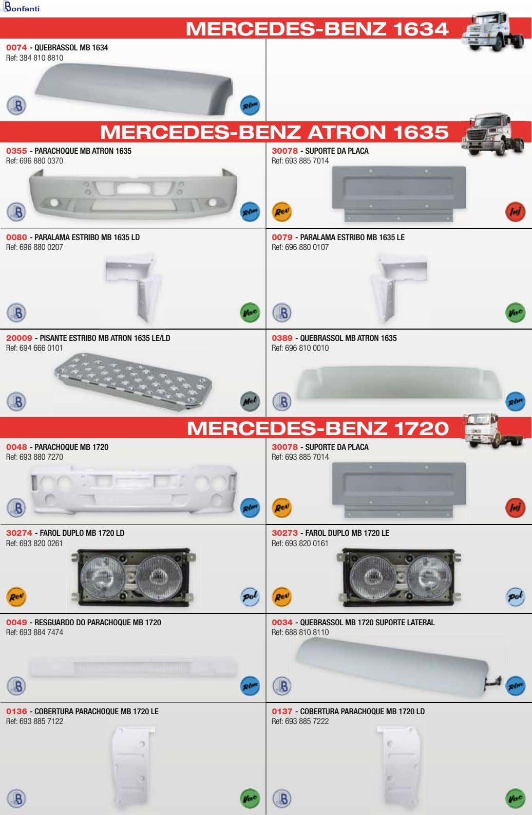 MERCEDES-BENZ 1634 0074 - QUEBRASSOL MB 1634 Ref: 384 810 8810 MERCEDES-BENZ ATRON 1635 0355