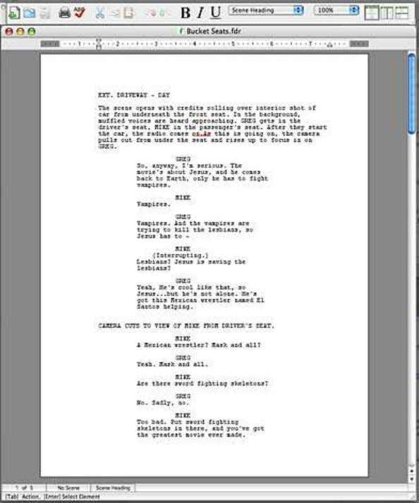 your script A script layout should look something like this: A Short Screenwriting Guide © 2006-2009