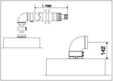 supply (inlet) can be provided by a system of coaxial pipes. The outlet and the inlet