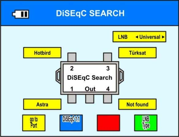 D|SEqC SEARCH LNB 4 Universal > Turksat I I D|SEqC Search /i\ \i/ Ou re