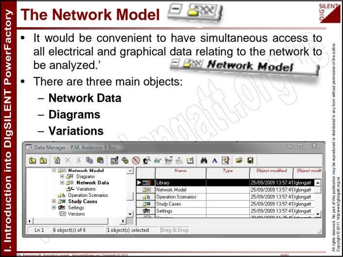 The Network Model • It would be convenient to have simultaneous access to all electrical