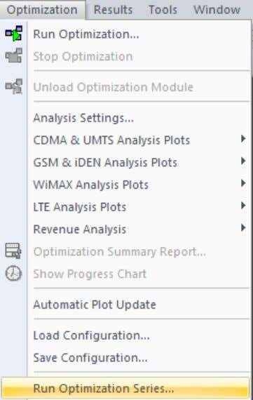 and customization. They can also be accessed by the Optimization menu. Fig. 2-5 Optimization menu www.actix.com