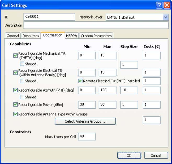 If it is not included, it will be automatically added. Fig. 4-11 Optimization tab of the