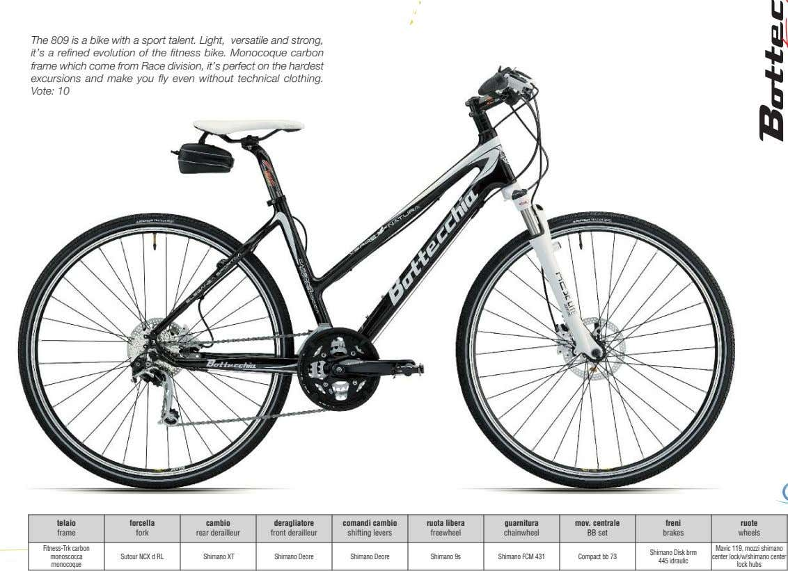 The 809 is a bike with a sport talent. Light, versatile and strong, it's a