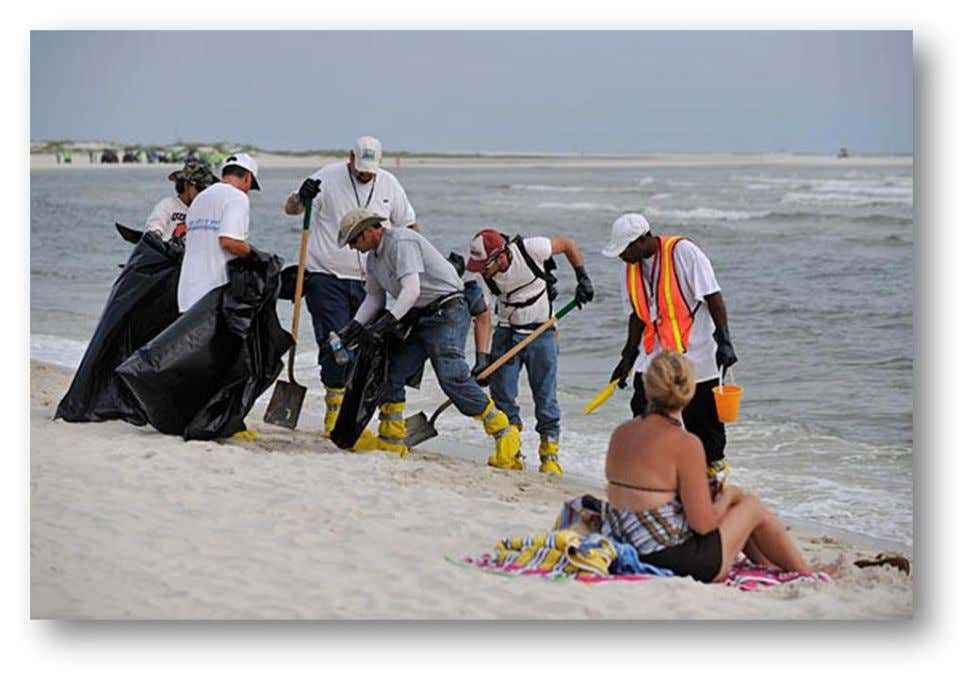 "Oil Spill in a responsible and transparent manner. SLOGAN ""We will get this done. We will"