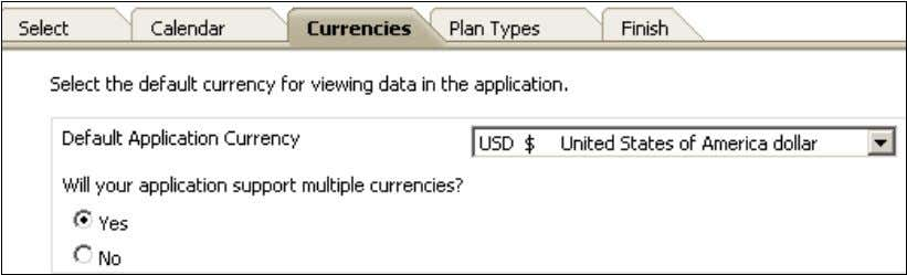 application supports multiple currencies, select Y e s . 7 . Select the P l a