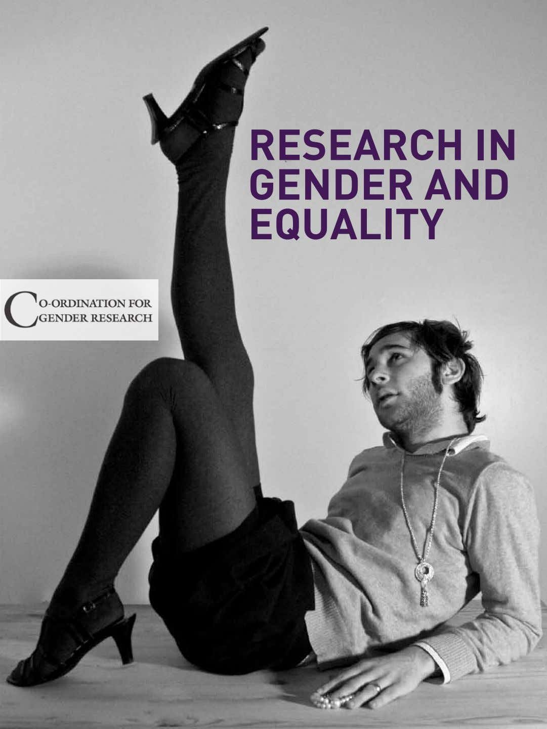 research in gender and equality