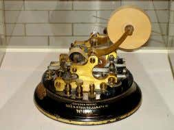 when researching stocks, getting quotes, and placing trades. Paper ticker telegraph machine, c. 1912 The term