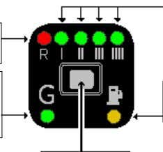 with the kit has one button, 7 LEDs and an internal buzzer. BUTTON 4 GREEN LEDS