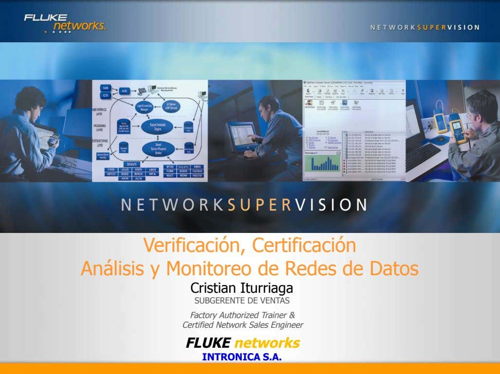 Vision for the Enterprise Performance Management Market Verificación, Certificación Análisis y Monitoreo de Redes de