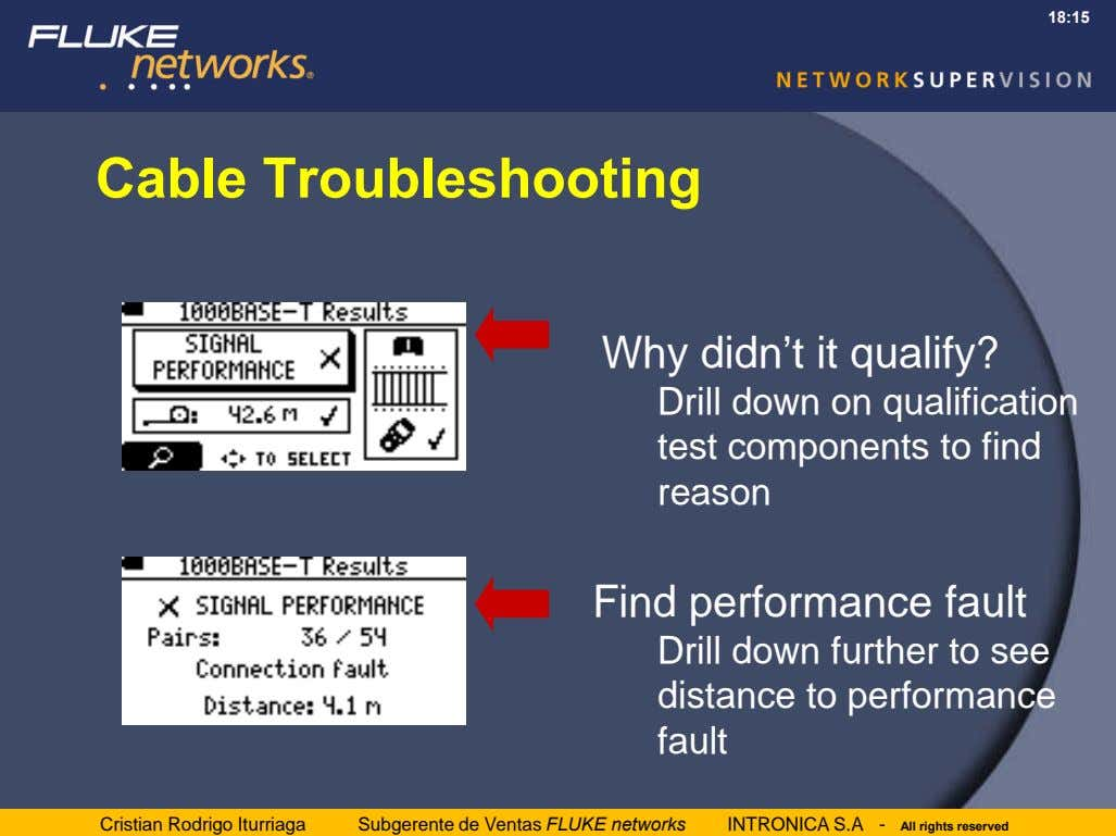 18:15 Cable Troubleshooting Why didn't it qualify? Drill down on qualification test components to find