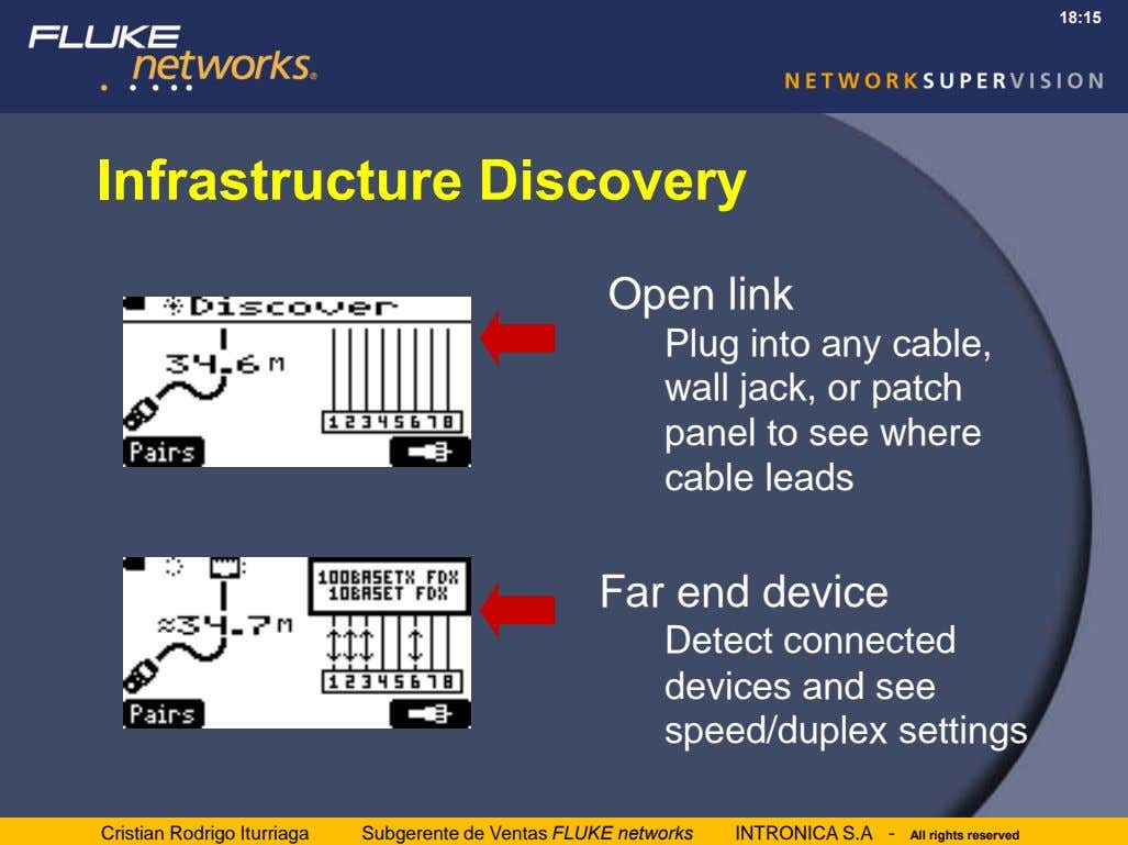 18:15 Infrastructure Discovery Open link Plug into any cable, wall jack, or patch panel to